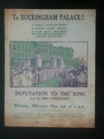 SUFFRAGETTE DEMONSTRATION FLYER MAY 21st 1914 to BUCKINGHAM PALACE