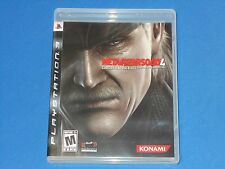 Playstation 3 PS3 Metal Gear Solid Guns Of The Patriots Video Game No Scratches!