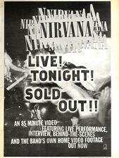 ARTICLE - ADVERT 19/11/94PGN15 NIRVANA : LIVE TONIGHT VIDEO 15X11""