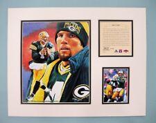 Green Bay Packers BRETT FAVRE 1997 NFL Football 11x14 Matted Lithograph Print