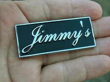 ~ JIMMY'S CAR BADGE Chrome Metal Emblem To Personalise Your Car James *UNIQUE!*