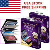 2X Original Wonder Amazing Slim Thin RFID Wallets As Seen on TV Black Leather US