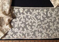 18th C. Italian or Flemish bobbin lace furnishing flounce Collector