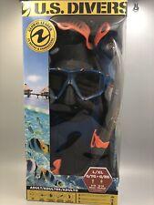 U.S. Divers Adult L/XL Snorkel Set , Blue & Orange