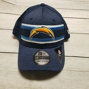 New Era 39Thirty Los Angeles LA Chargers Flexfit Fitted Hat Blue S/M 11923655