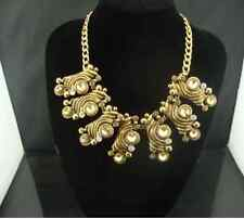18K Gold Vintage Crystal Statement Collar Necklace