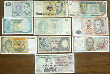Small Collection of 10 Different Countries Replacement Notes UNC