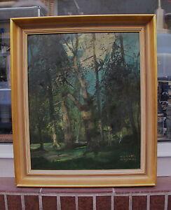 """GEMÄLDE von  ANTON MÜLLER - WISCHIN ( 1865 - 1949 ) MÜNCHEN , betitelt """" WALD """""""