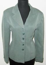 Amanda Smith Green Woman Suede Blend 10P Jacket Coat Blazer