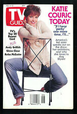 KATIE COURIC 1993 TV GUIDE Collectible Small Format No Address Label