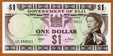 FIJI, 1 dollar, ND (1969), P-59 (59a), QEII, A/1, scarce in UNC