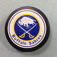 Buffalo Sabres Puck 1985-92 Ziegler General Tire Large Logo Game Used Puck NHL