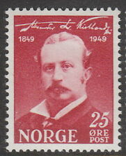 Stamp Norway Sc 0295 1949 Alexander Kielland Author Birth Centennial Norge MNH