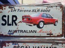 LH SLR5000 TORANA Number Plate Style 3D Tin Metal Sign NEW Man Cave Garage Bar