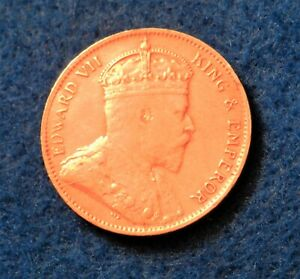 1908 Ceylon Cent - Very Nice Old Coin - Red in Color - See PICS