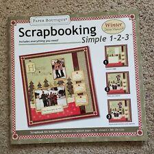 Paper Boutique Debbie Mumm Simple Winter Scrapbook Kit *NEW