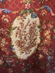 WAVERLY CURTAINS~SAISON DE PRINTEMPS~COUNTRY FRENCH RED~3 SETS AVAILABLE