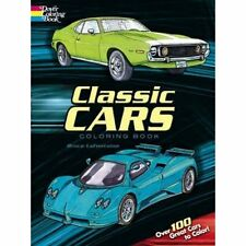 Classic Cars muscle automobiles Coloring Book Paperback for children & Adult