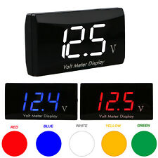12V LED Digital Display Voltmeter Car Voltage Panel Meter Motocycle Waterproof