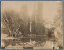 Crupi. Italie, Palermo, Villa Tasca  Vintage albumen print.  Tirage albuminé