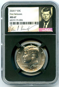 2020 P KENNEDY NGC MS67 HALF DOLLAR RETRO SIGNATURE LABEL FIRST RELEASES TOP POP