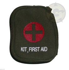 First Aid Kit Zipper Pouch Individual 1st aid OD Belt Loop Field Medic New