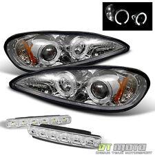 For 99-05 Pontiac Grand Am Halo Projector Headlights Lights+Smd Bumper Fog Light