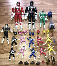 Vintage Power Rangers Lot Mighty Morphin Space Turbo Action Figure Bandai 90?s
