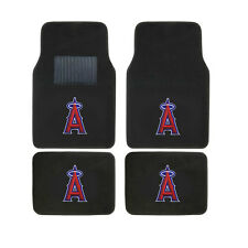 New 4pc Set MLB LA Los Angeles Angels Car Truck Front Back Carpet Floor Mats