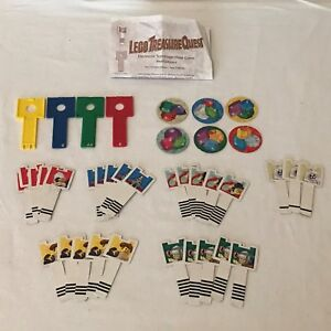 Lego Treasure Quest Board Game Replacement Parts Pieces Key Keys Blue White Red
