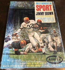 1965 Aurora Model Kit Great Moments in Sports Jim Brown SEALED Box Football