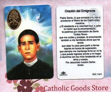 Santo Toribio Romo - Oracion del Emigrante - Spanish - Plastic stock Holy Card