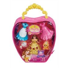 Disney Princess Little Kingdomr MagiClip BELLE Fashion Bag With 3 Dress clips