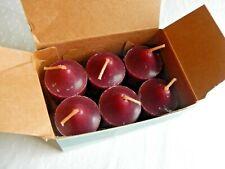 6 PartyLite Mulberry Votive Candles Nib Maroon Color