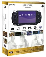 New Sony PSP 3000 System Piano Black Bundle 3 Games Extended Life Battery & More