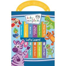 NEW Baby Einstein Let's Learn 12 Board Books Kids Early Learning Collection Set!