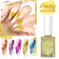 BORN PRETTY PRO Pearly Blooming Nail Polish Watercolor Ink Marble Nail Art DIY