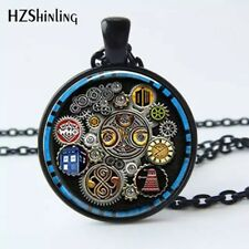 NewFashion Pendant 1pc Doctor Who Tardis Dr Who Inspired Necklace glass Cabochon
