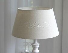 Lampenschirm *  DOLCE VITA * Stoff, Beige, Stickerei, Shabby, Vintage, Hamptons