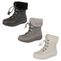 Fitflop Womens Holly Shearling Lace Up Winter Boot Shoes
