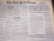 1930 OCT 10 NEW YORK TIMES - FDR TELLS HOW CRATER & BERTINI APPOINTED - NT 4973