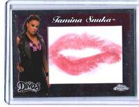 WWE Tamina Snuka 2015 Topps Chrome Authentic Divas Kiss Card DWC
