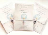 Holy Communion/Confirmation friendship bracelets personalised invites favours