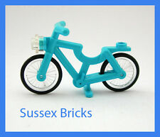 Lego City - Medium Azure Blue Bicycle Bike Riding Cycle Minifigure - New Pieces