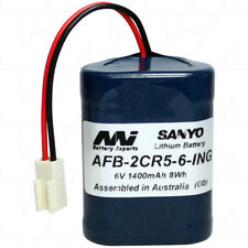 AFB-2CR5-6-ING 6V 1.4Ah Lithium Battery for Lavatory Auto Flush Sensors
