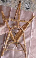 Porte revues vintage en bambou et rotin - Superbe travail & design ! Déco loft