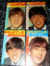 4 BEATLES Mini Books Fun Fanzine 60s Retro Ringo Star Info Photos Pictures Old