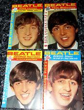 4 BEATLES Booklets Paul McCartney Photos Liverpool Old Vintage Book Magazines UK