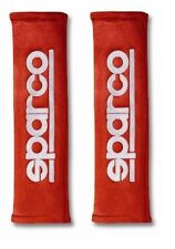 """Sparco 01090R3RS 2"""" Alcantara Red Seat Belt Harness Pad"""