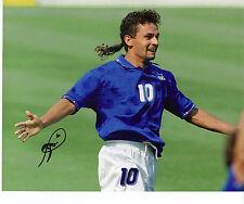 Roberto BAGGIO SIGNED 10x8 PHOTO FIRMA ORIGINALE ITALIA 94 AFTAL COA (1257)